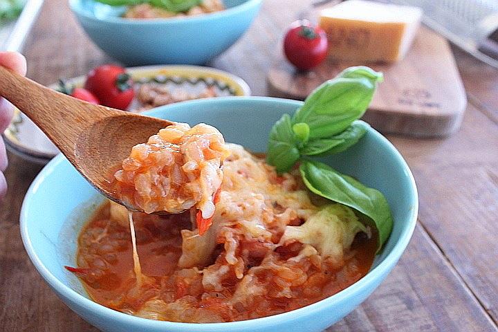 低糖質低カロリーレシピ:トマトチーズリゾット